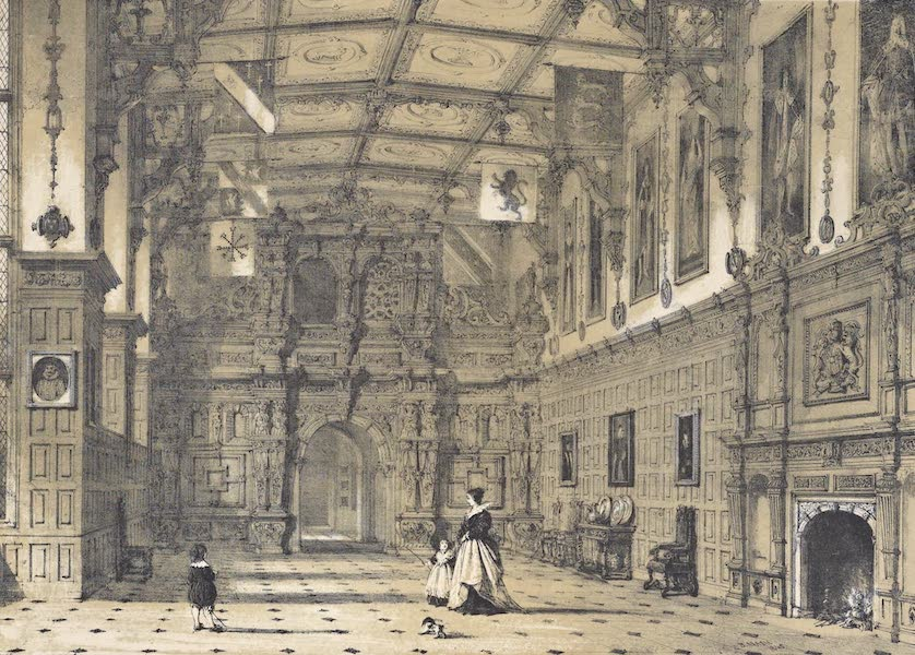 The Mansions of England in the Olden Time Vol. 2 - Hall, Audley End, Essex (1839)