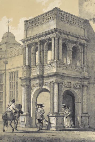 The Mansions of England in the Olden Time Vol. 2 - Porch at Audley End, Essex (1839)