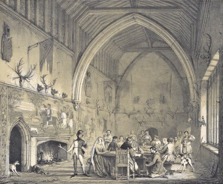 The Mansions of England in the Olden Time Vol. 2 - Hall, Moat House, Ightham, Kent (1839)