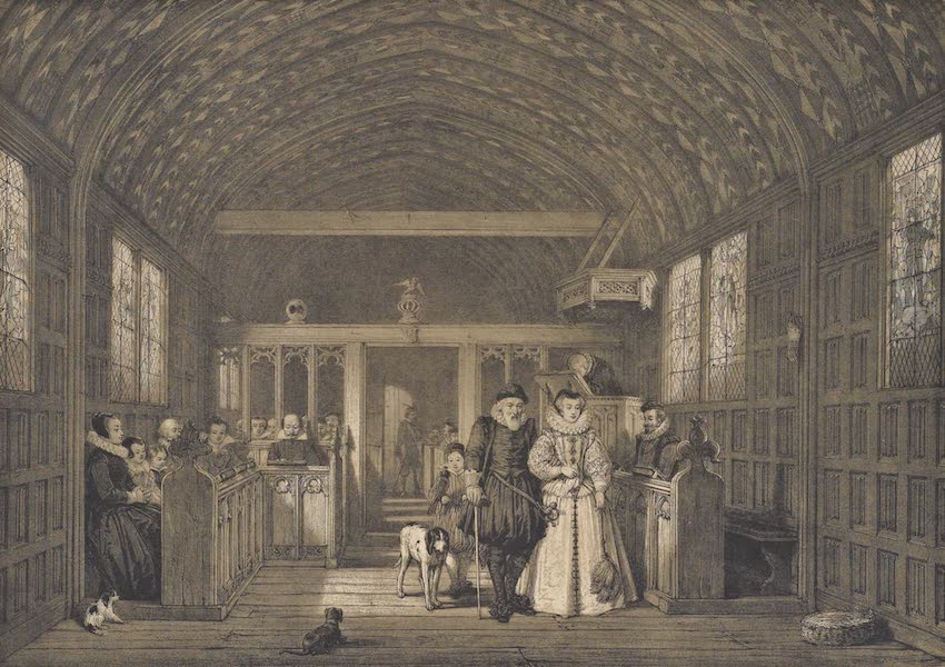The Mansions of England in the Olden Time Vol. 2 - Chapel, Moat House, Ightham, Kent (1839)