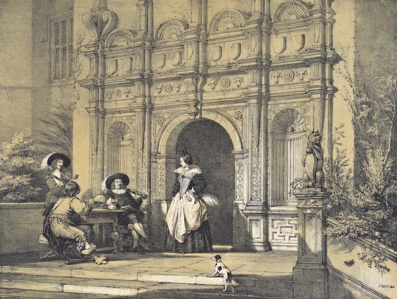 The Mansions of England in the Olden Time Vol. 2 - Porch, Wroxton Abbey, Oxfordshire (1839)