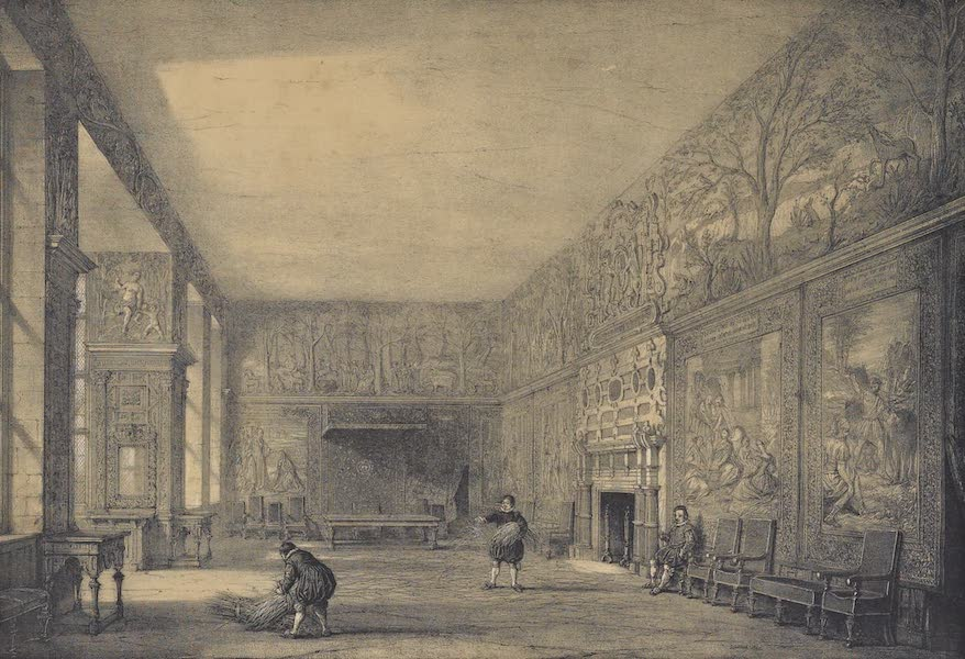The Mansions of England in the Olden Time Vol. 2 - Presence Chamber, Hardwicke Hall, Derbyshire (1839)