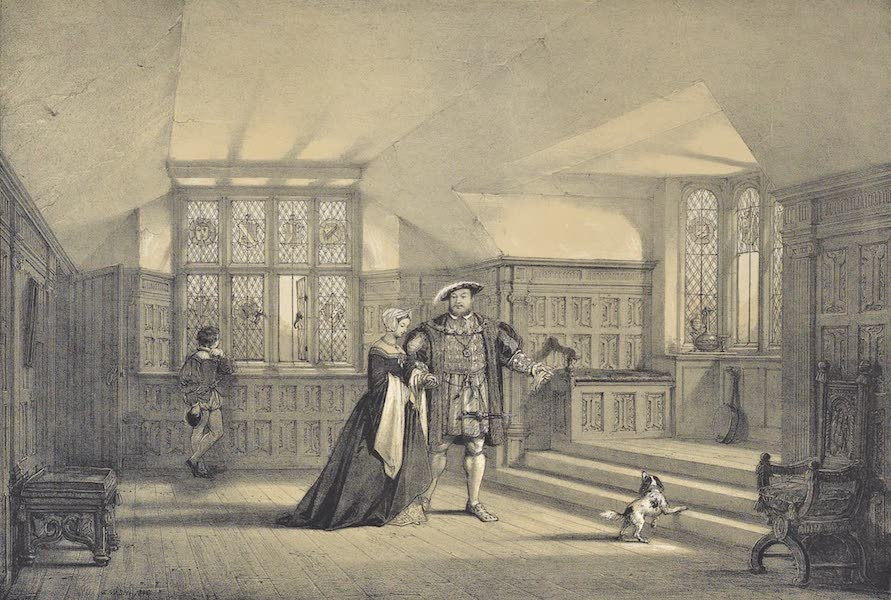 The Mansions of England in the Olden Time Vol. 2 - Bay Window in the Gallery, Hever Castle, Kent (1839)
