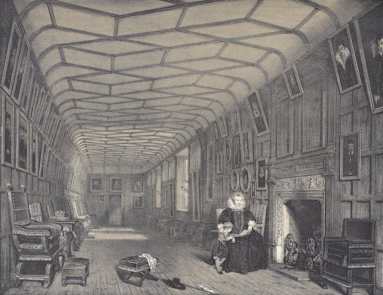 The Mansions of England in the Olden Time Vol. 2 - Brown Gallery, Knowle, Kent (1839)