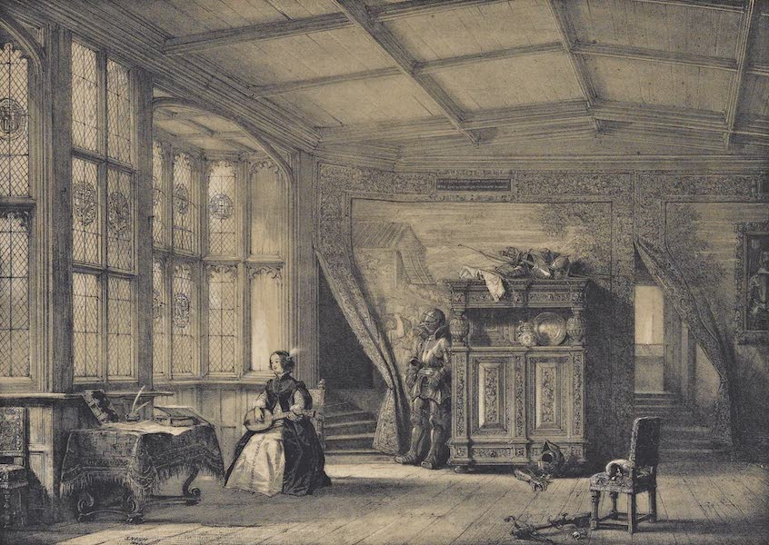 The Mansions of England in the Olden Time Vol. 2 - Room Leading to the Chapel, Knowle, Kent (1839)