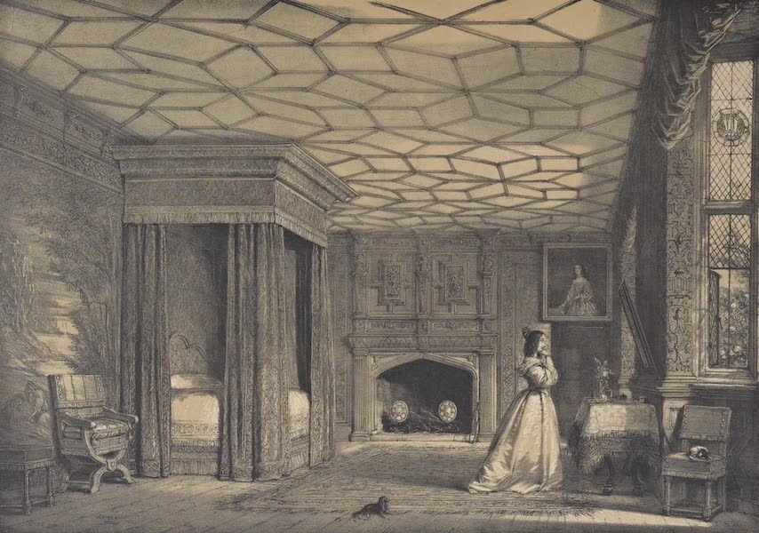 The Mansions of England in the Olden Time Vol. 2 - Bed Chamber at Knowle, Kent (1839)