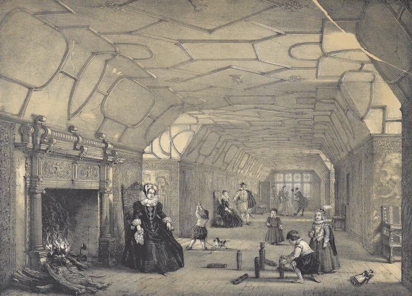 The Mansions of England in the Olden Time Vol. 2 - Galley Over the Hall, Knowle, Kent (1839)