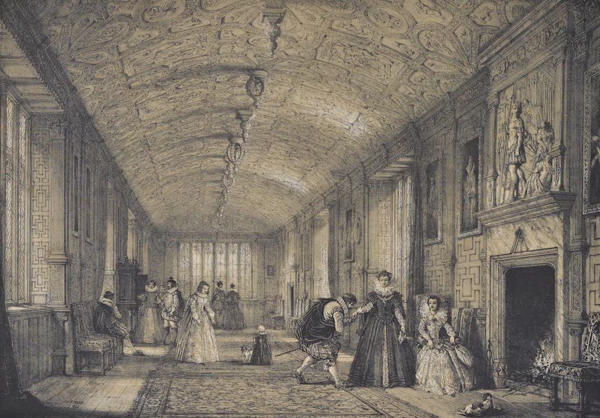 The Mansions of England in the Olden Time Vol. 3 - Gallery, Lanhydroc, Cornwall (1839)