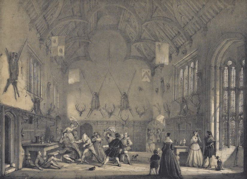The Mansions of England in the Olden Time Vol. 3 - Hall, Athelhampton, Dorsetshire (1839)
