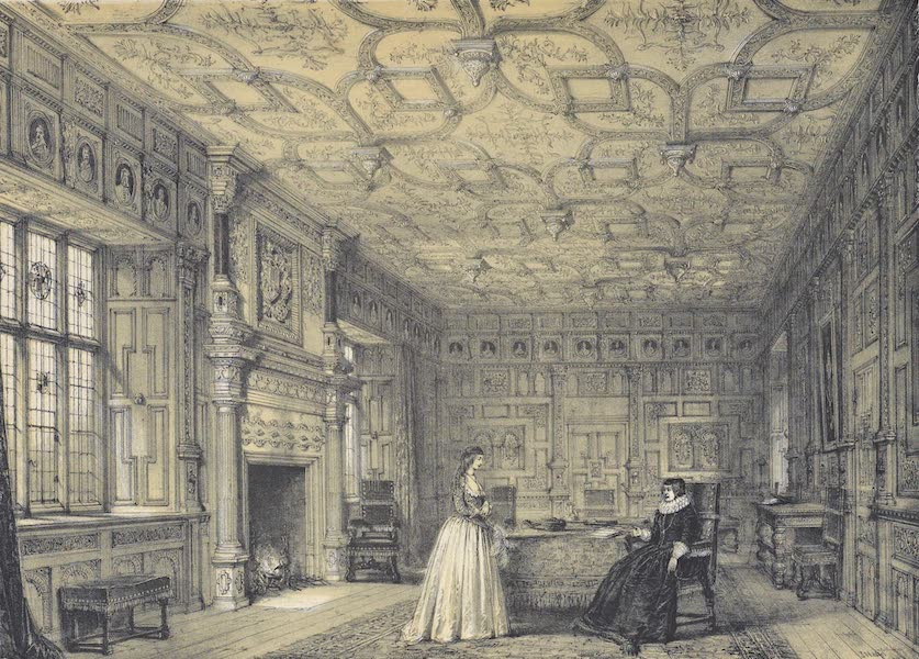 The Mansions of England in the Olden Time Vol. 3 - Drawing Room, Chastleton, Oxon (1839)