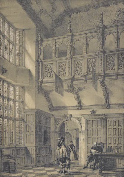 The Mansions of England in the Olden Time Vol. 3 - Gallery in the Hall, Hatfield, Herts (1839)