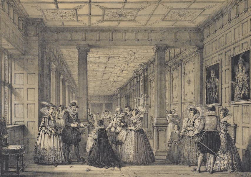 The Mansions of England in the Olden Time Vol. 3 - Gallery, Hatfield, Herts (1839)