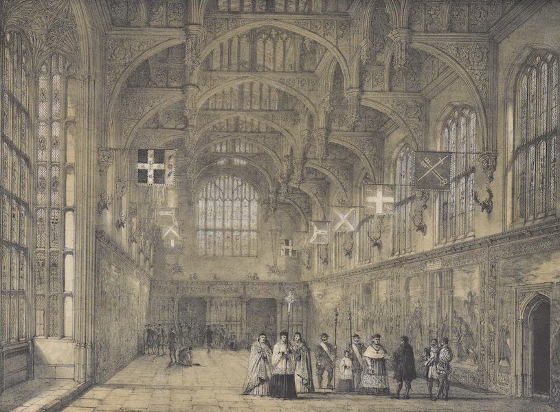 The Mansions of England in the Olden Time Vol. 3 - Hall, Hampton Court, Middlesex (1839)