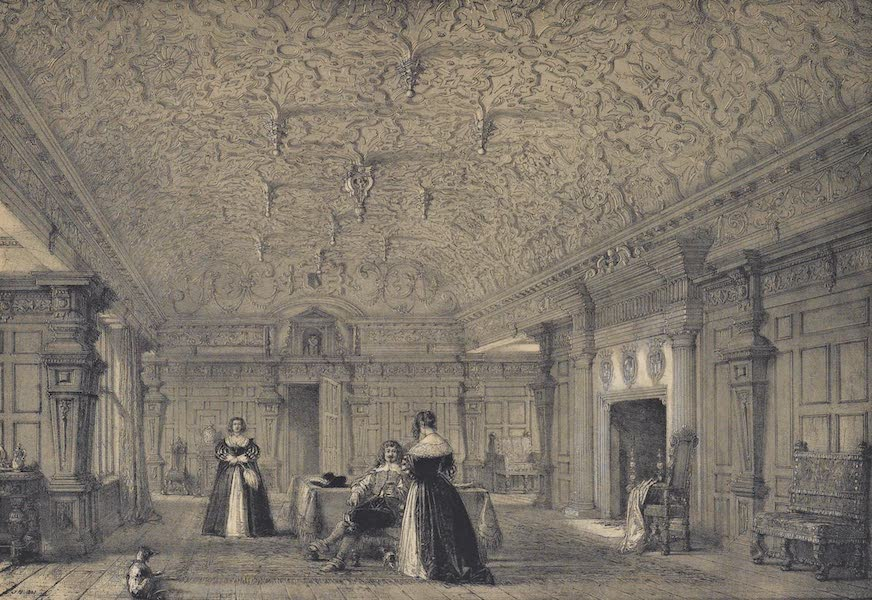 The Mansions of England in the Olden Time Vol. 3 - Drawing Room, Dorfield, Cheshire (1839)