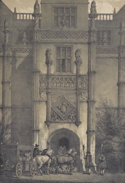 The Mansions of England in the Olden Time Vol. 3 - Porch, Montacute, Somerset (1839)