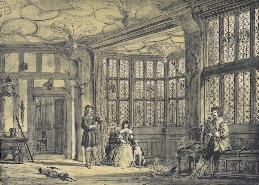 The Mansions of England in the Olden Time Vol. 3 - Bay Window in Hall, Bramhall, Cheshire (1839)