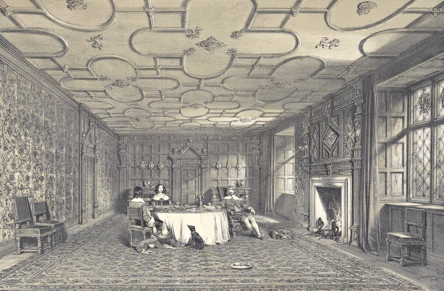 The Mansions of England in the Olden Time Vol. 4 - Dining Room, Levels, Westmoreland (1839)