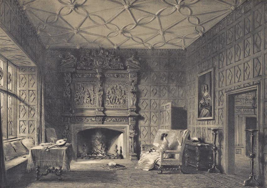 The Mansions of England in the Olden Time Vol. 4 - Small Drawing Room, Levels, Westmoreland (1839)