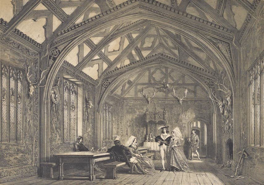 The Mansions of England in the Olden Time Vol. 4 - Banquetting Room, Bramhall, Cheshire (1839)