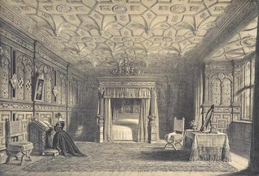 The Mansions of England in the Olden Time Vol. 4 - Inlaid Chamber, Sizerch, Westmoreland (1839)