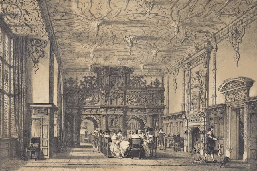 The Mansions of England in the Olden Time Vol. 4 - Hall, Crewe Hall, Cheshire (1839)