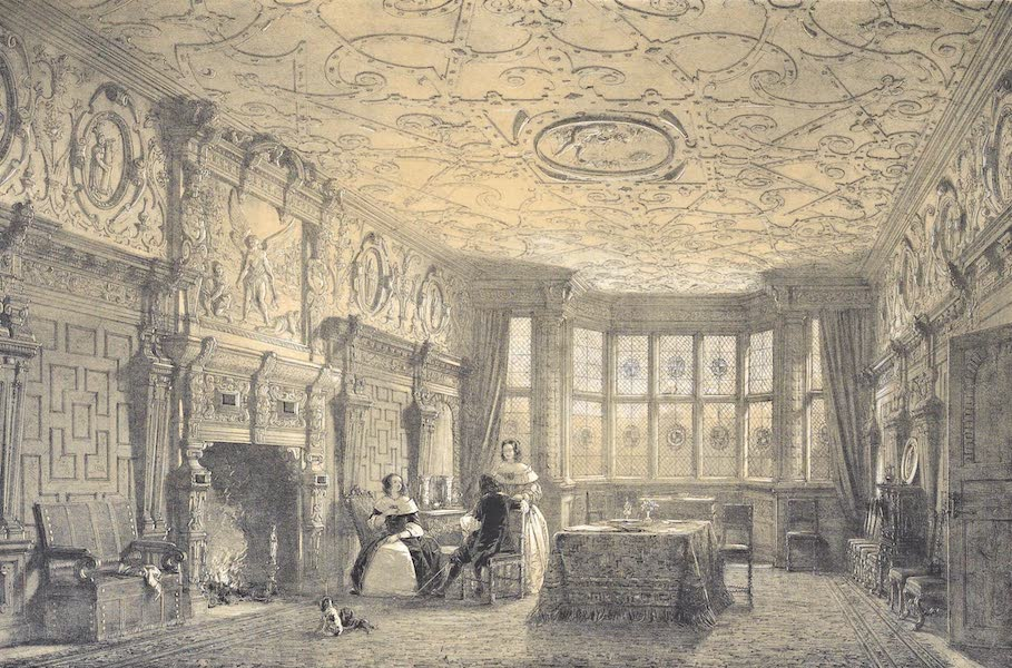 The Mansions of England in the Olden Time Vol. 4 - Carved Parlour, Crewe Hall, Cheshire (1839)