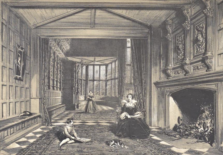 The Mansions of England in the Olden Time Vol. 4 - Bay Window in the Hall, Speke, Lancashire (1839)