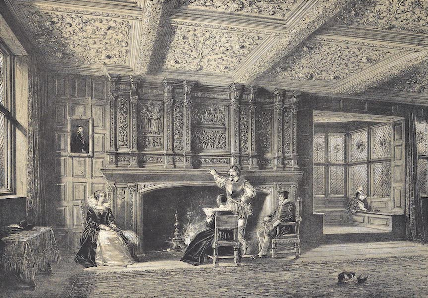 The Mansions of England in the Olden Time Vol. 4 - Fire Place in the Drawing Room, Speke, Lancashire (1839)