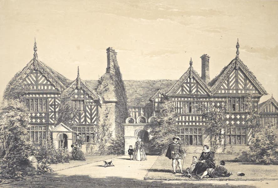 The Mansions of England in the Olden Time Vol. 4 - Garden Front, Speke, Lancashire (1839)
