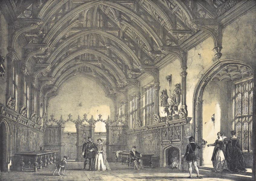 The Mansions of England in the Olden Time Vol. 4 - Hall, Milton Abbey, Dorsetshire (1839)