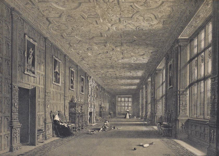 The Mansions of England in the Olden Time Vol. 4 - Gallery, Aston Hall, Warwickshire (1839)