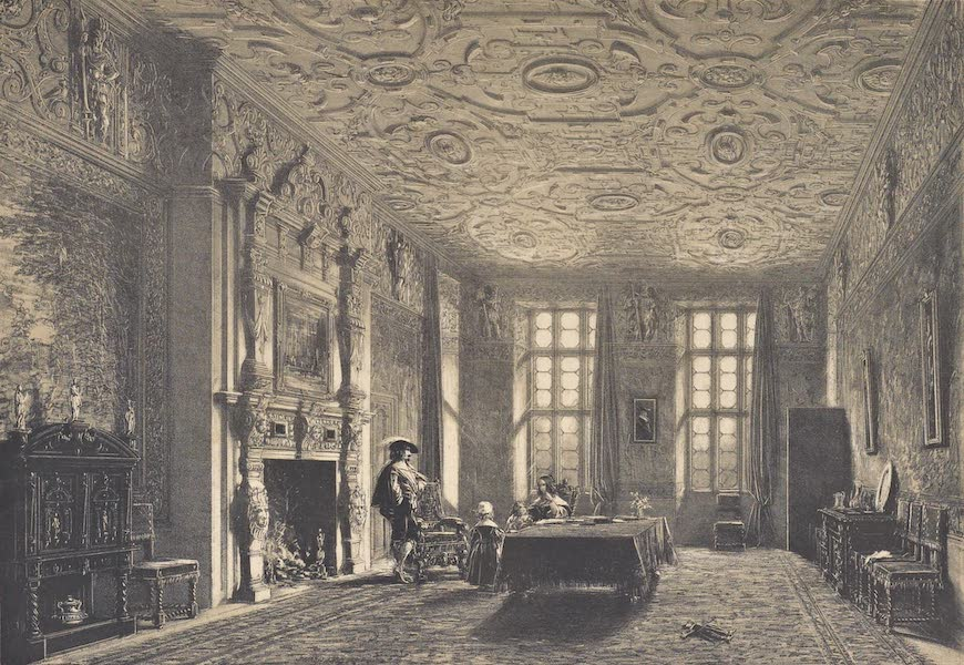 The Mansions of England in the Olden Time Vol. 4 - Drawing Room, Aston Hall, Warwickshire (1839)