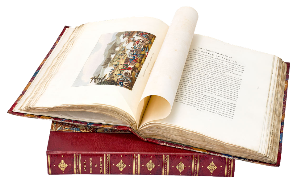 The Martial Achievements of Great Britain - Book Display (II) (1815)