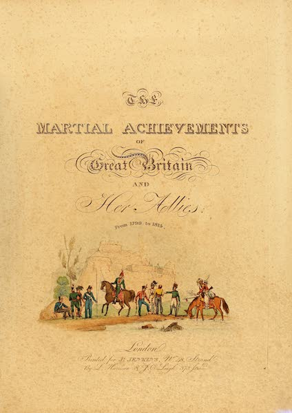 The Martial Achievements of Great Britain - Title Page (1815)