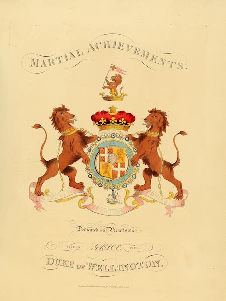 The Martial Achievements of Great Britain - Martial Achievements' Coat of Arms (1815)