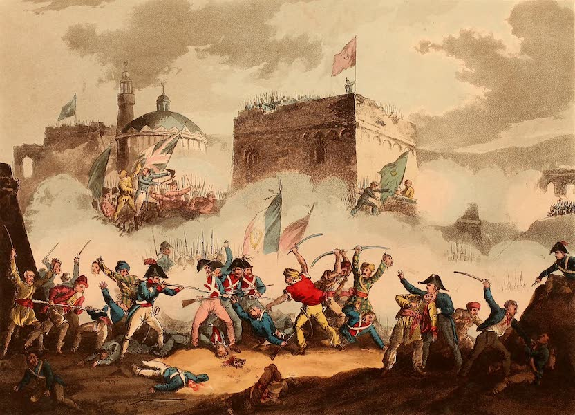 The Martial Achievements of Great Britain - Defence of the Breach at St. Jean d'Acre, May 8th 1799 (1815)