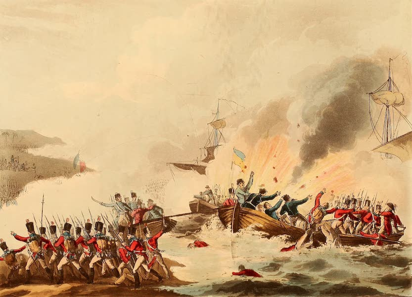 The Martial Achievements of Great Britain - Landing of the British Troops in Egypt, March 8, 1801 (1815)