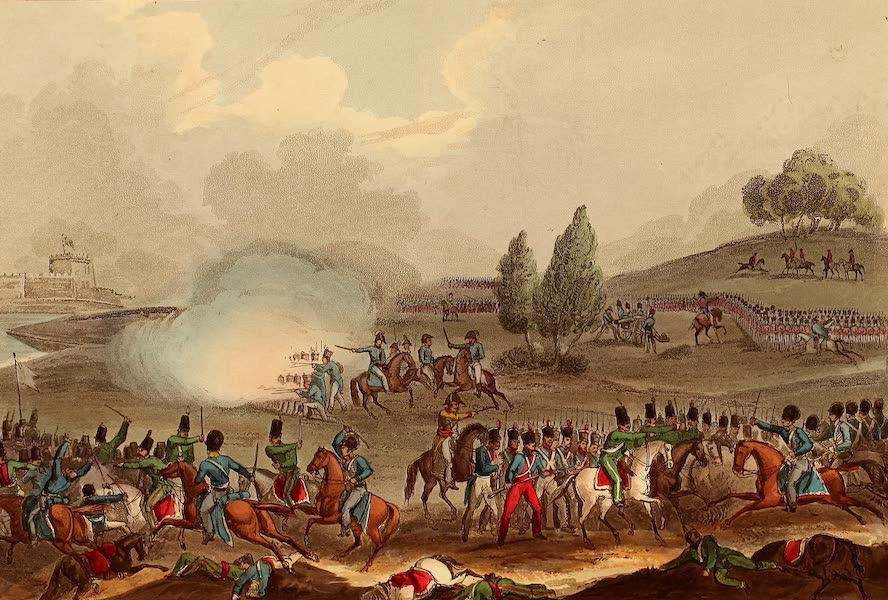 The Martial Achievements of Great Britain - Defeat of a French Division before Badajos - March 25th 1811 (1815)