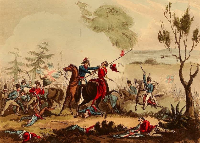 The Martial Achievements of Great Britain - Marshall Beresford disarming a Polish Lancer, at the Battle of Albuera - May 16th 1811 (1815)