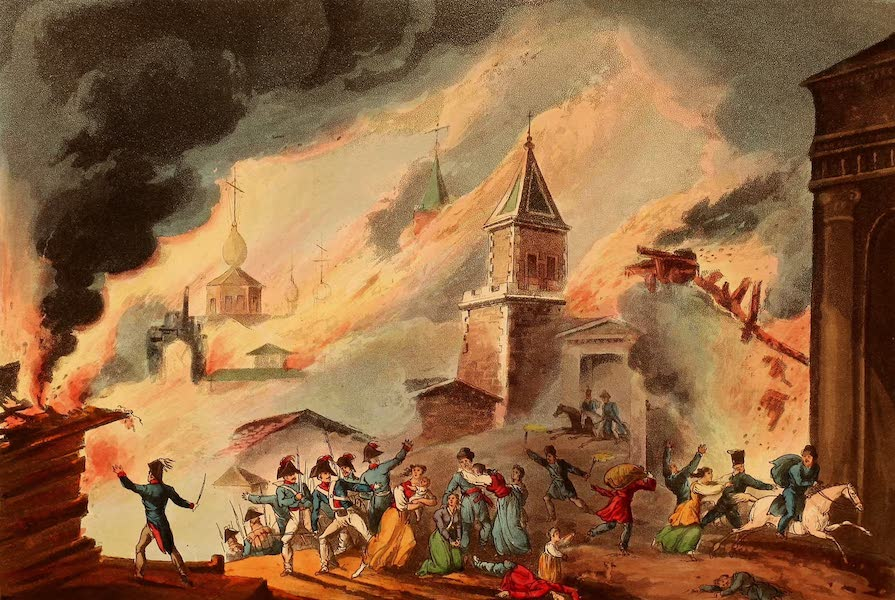 The Martial Achievements of Great Britain - Burning of Moscow, Sept 1812 (1815)