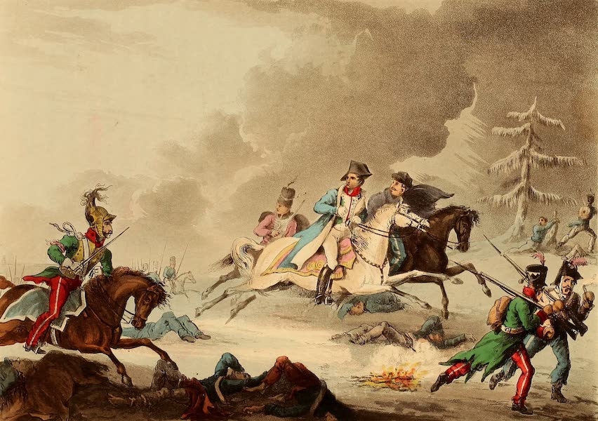 The Martial Achievements of Great Britain - Flight of Bonaparte from the Battle of Krasnoi (1815)
