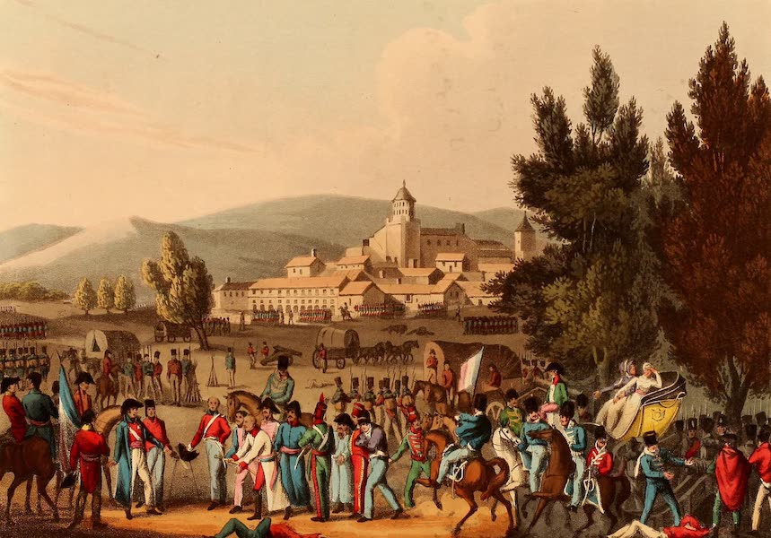 The Martial Achievements of Great Britain - Battle of Vittoria, Bringing in the Prisoners (1815)