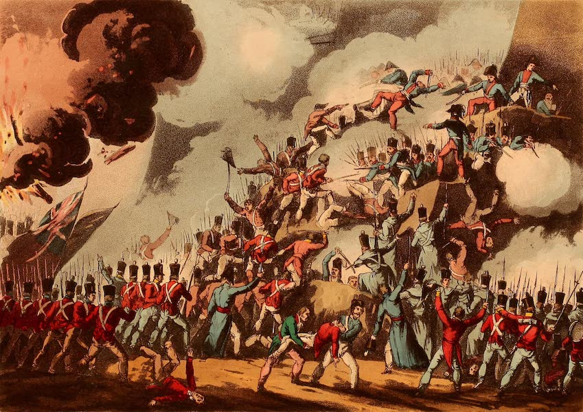 The Martial Achievements of Great Britain - Storming of St. Sebastian, Aug 31st 1813 (1815)