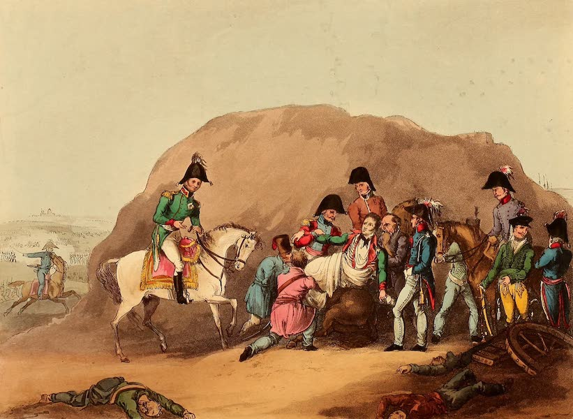 The Martial Achievements of Great Britain - Death of Moreau, before Dresden, Aug 1813 (1815)