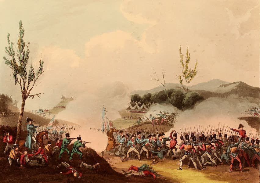 The Martial Achievements of Great Britain - Attack on the Road to Bayonne - Dec 13th 1813 (1815)