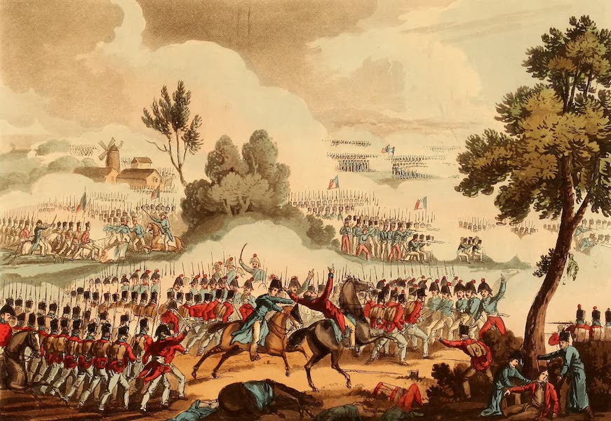 The Martial Achievements of Great Britain - The Left wing of the British Army in Action at the Battle of Waterloo - June 18th 1815 (1815)