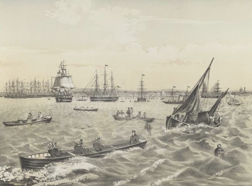 The Melbourne Album - Sandridge, from Hobson's Bay (1863) (1864)