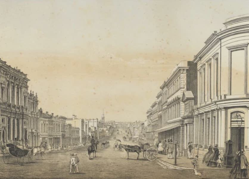 The Melbourne Album - Collins Street (from Queen Street) (1864)