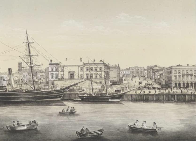 The Melbourne Album - Queen's Wharf. (Yarra Yarra 1864) (1864)