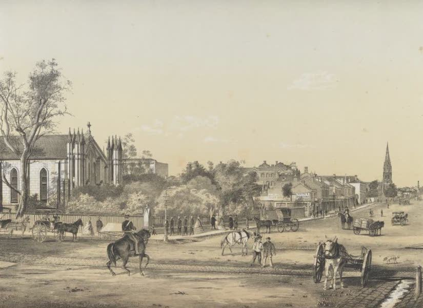 The Melbourne Album - Great Lonsdale Street East (1864) (1864)